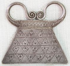Soul Lock Pendant Antique Hmong Silver 28g Late 19th - Early 20th Century Laos ETJ147