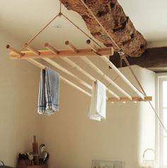 Creative But Simple Clothing Rack Design Ideas - Page 36 of 49 Recycled Art Projects, Rack Design, Simple Outfits, Clothes Hanger, Laundry Room, Design Inspiration, Shelves, Interior Design, Storage