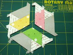 Kristin's Quilts and Stuff: Tips on EPP, Basting Triangles