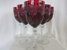 Cris D'Arques Antique Ruby Red Goblets