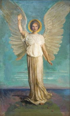Abbott Handerson Thayer, Angel of the Dawn, 1919,