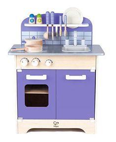 Purple Kitchen Playset Gourmet Deluxe Kids 13 Pc Wood Christmas Gift #USAToyz