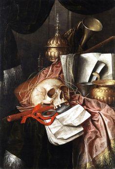 Franciscus Gysbrechts (до 1630 - после 1676)). Натюрморт Vanitas (суета сует)