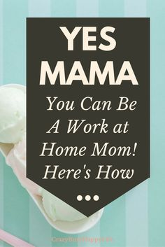 You can be a work at home mom. The hardest thing is just figureing out how you'll be a WAHM. Click through for great ideas so that you can work and stay home with your kids. Pin this.