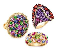 Rosendorff Water Colours Collection Rings