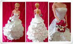Artesanato e variedades  : Vestido em EVa -Noiva