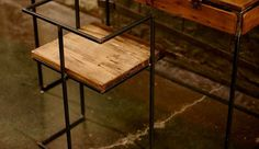 The Square Chair Handmade from Reclaimed Wood & Steel