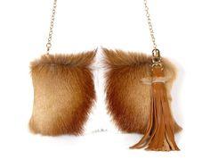 Springbok Handbag  Sustainable Fur Bag   Springbok by MiCasaBella