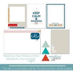 2013 Project Life Printable Journaling Cards by meganklauerdesign, $2.00
