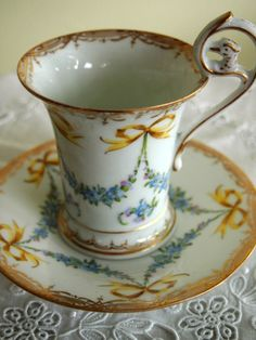 Dresden ~ Teacup and Saucers