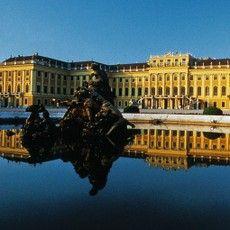 Schönbrunn Palace with pond, Austria