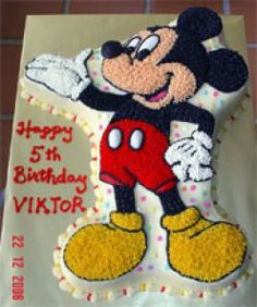 Pix For > Mickey Mouse Face Sheet Cake