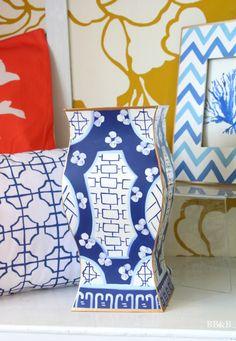 Dana Gibson Blue Canton Vase brightboldbeautiful.com
