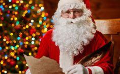 Scarica sfondi Santa, 4k, di lettere, di Natale, riflesso, Babbo Natale, Anno Nuovo, Buon Natale