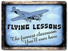 AIRPLANE model metal SIGN remote FLYING lessons VINTAGE style retro wall decor art 029 -- Check out this great image  : Home Decorative Accessories
