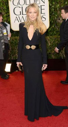 Golden Globes 2013-- Stunning Kate Hudson in Alexander McQueen (photo: Getty Images)