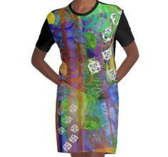 Mela's Mind is Chaos Graphic T-Shirt Dress with artwork by Susan Phillips Hicks
