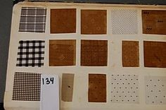 134: Book of printed cottons, 1863-68, approx. 29 pages : Lot 134
