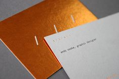 Hot foil and letterpress business cards printed by Blush designed by Andy Cooke.