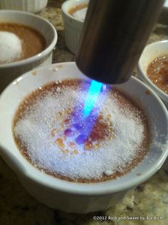 Nutella Creme Brulee, fabulous AND I get to use a torch, woohoo! via @Rich and Sweet by Bia Rich