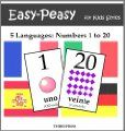 Free Kindle Books - Reference - 5 Languages: Numbers from 1 to 20 - Spanish, French, German, Italian  Portuguese (Easy-Peasy For Kids Series) ~ by: Charles Pierre
