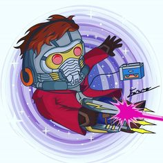 STARLORD . . #Vector #vectorart #vectorillustration #illustrator #illustration #guardiansofthegalaxy #starlord #space #galaxy #star #lord #ChrisPratt #stars #universe #blaster #laser #walkman #cassette #music #purple #end #awesome #mix #awesomemixvol1