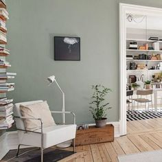 Whether it's a modern bedroom or rustic kitchen, sage is a wise idea. New Neutral If you love using natural materials in neutral hues, sage is an excellent complement to enhance the shades. Source by Sage Green Bedroom, Sage Green Walls, Green Bedroom Decor, Bedroom Wall Colors, Living Room Green, Living Room Colors, Living Room Decor, Sage Green Paint, Grey Green Bedrooms