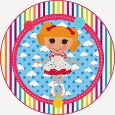 Lalaloopsy - Minus Eric Carle, Cake Printer, Kit Digital, Bottle Cap Images, Bottle Caps, Lalaloopsy Party, Topper, Stickers, Birthday Parties