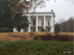 """Glen Mary Plantation - Sparta, GA December my 2007 photo -  Glen Mary, home of Major General Ethan Allen Hitchcock (May 18, 1798-August 5, 1870), advisor to Lincoln and """"Pen of the Army,"""" is the only surviving rural High Greek Revival """"raised cottage"""" plantation house remaining in the United States which is situated on a portion of original cotton plantation lands."""