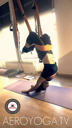 Aerial Yoga Aerial Yoga poses www.aerialyoga.tv  Aéreo Swing®, El sistema AeroYoga® by yogacreativo, via Flickr