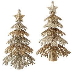 RAZ Imports - Glittered Tree Ornaments - Set of 2 Black Christmas Decorations, Elegant Christmas, Gold Christmas, Winter Christmas, Christmas Tree Ornaments, Xmas, Holiday Mood, Holiday Lights, Seasonal Decor