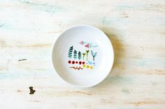 Hand painted porcelain mini dish My wildflower by roootreee
