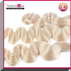 Cheveux-Extensions-Blond-Tissage-Naturel-weft-Ondule-Humain-8-Hair-Bresilien-NF
