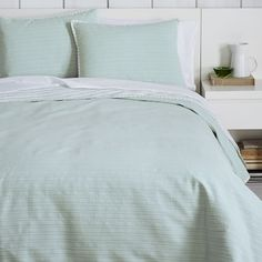 Nadia Striped Coverlet - Pale Harbor