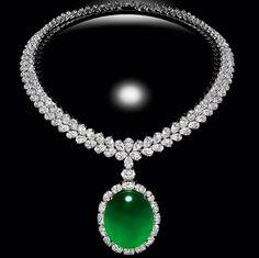 Diamond Necklaces : RP: Imperial Jade White Gold Necklace - 翡翠 - Buy Me Diamond Jade Jewelry, Emerald Jewelry, I Love Jewelry, Gems Jewelry, High Jewelry, Luxury Jewelry, Pearl Jewelry, Diamond Jewelry, Diamond Necklaces