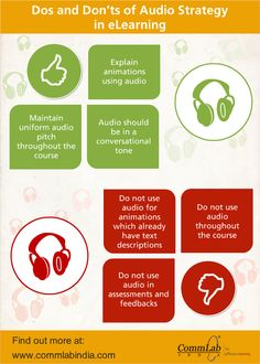 Dos and Don'ts of Using Audio in #Elearning - An #Infographic