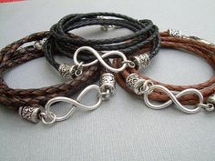 Hey, I found this really awesome Etsy listing at http://www.etsy.com/listing/152026349/infinity-bracelet-leather-bracelet-mens