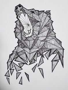 Geometric Bear Sketch…