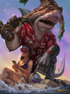 Sobek Land Shark by PTimm.deviantart.com on @DeviantArt