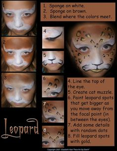 kids leopard face paint - Google Search