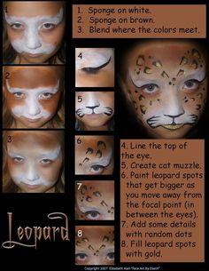 lion face face painting