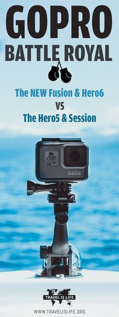Compare the GoPro Hero6 (NEW!) vs Fusion (NEW!) vs Hero5 vs Hero5 Session vs Session. Read our GoPro Buyers Guide to help you choose the best model. Brought to you by TravelisLife.org. #gopro #goprofusion #hero6