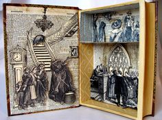 Witchcraft Altered Shadowbox Book Salem