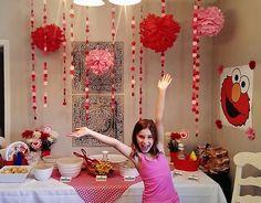 Pink & Red Elmo Birthday Party Decor | missfrugalfancypants.com