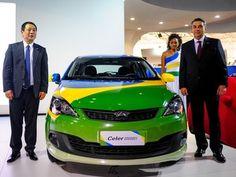 Chery Celer é apresentado durante Salão do Automóvel de São Paulo (Foto: Alan Morici/G1)