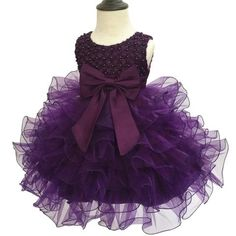 0d517f9faee baby dress Hot Pink flower girl dress Gowns Infant - On Trends Avenue New  Baby Dress
