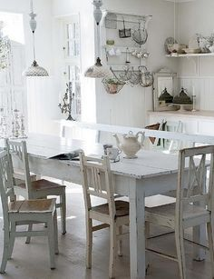 55 Cool Shabby Chic Decorating Ideas | Shelterness    --- Really like these chairs....