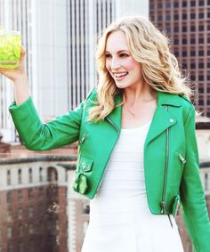 Find images and videos about the vampire diaries, tvd and candice accola on We Heart It - the app to get lost in what you love. Candice King, Candice Accola, Caroline Forbes, Vampire Diaries, Celebrity Crush, Tv Shows, Leather Jacket, Style Inspiration, Actresses