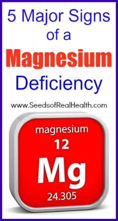 Five major signs of a magnesium deficiency
