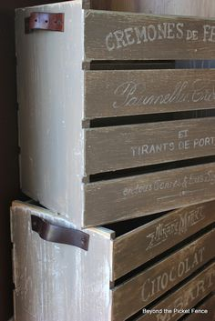 Beyond The Picket Fence: French Crates